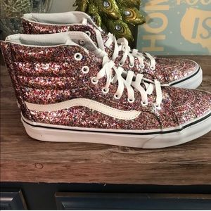 Like new high top sparkly Vans size 9.5